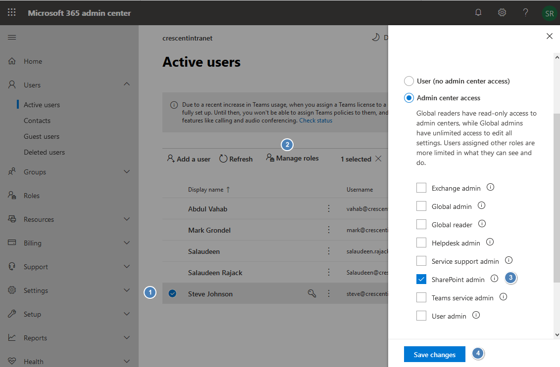 add user to sharepoint online administrator