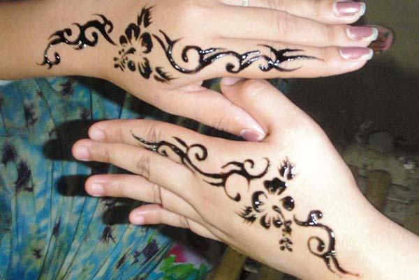 Cara Gambar Henna Simple Untuk Pemula
