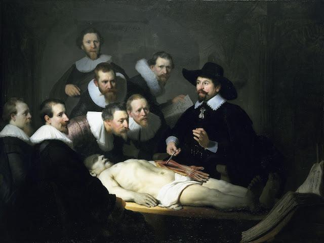 Rembrandt - La lección de anatomía del doctor Nicolaes Tulp - 1632