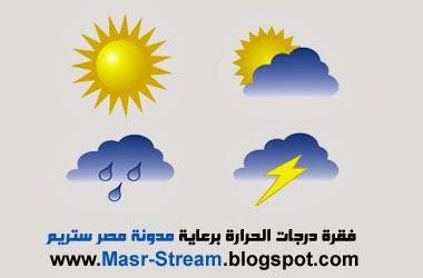 حالة الطقس ودرجات الحرارة المتوقعة الاثنين 20/1/2014 مصر
