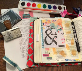 Bible Journaling - How to Use Water Colors