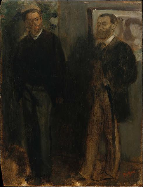 Эдгар Дега - Двое мужчин (ок.1865-1869)
