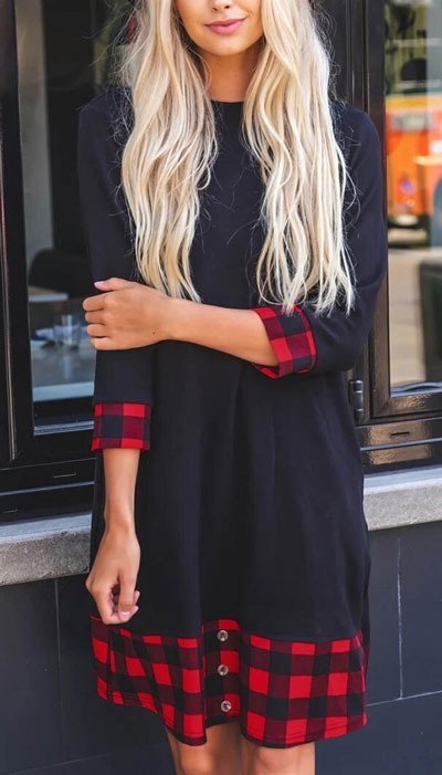 From casual outfits for family reunions to crazy trendy party outfits, we've got your back see these 24 Best Christmas Outfits You Can Shop this Holiday Season. | Black mini dress | #christmas #holiday #newyear #minidress