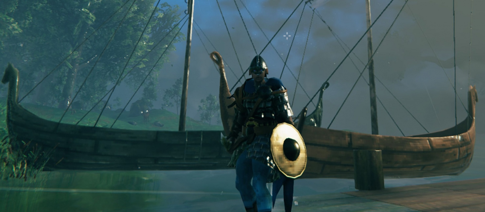 Where to find and how to kill the sea serpent in Valheim to get scales and craft a snake shield
