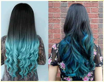 Blue Tips Hair Color - 18 Best Hair Color Trend 2016