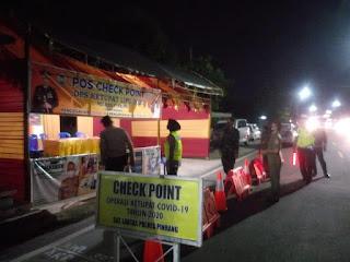 Kasat Lantas Polres Pinrang AKP Dharmawaty Kontrol Pos Pam Ops Ketupat