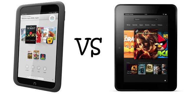 Nook E Reader Vs Kindle: Nook HD VS Kindle Fire HD