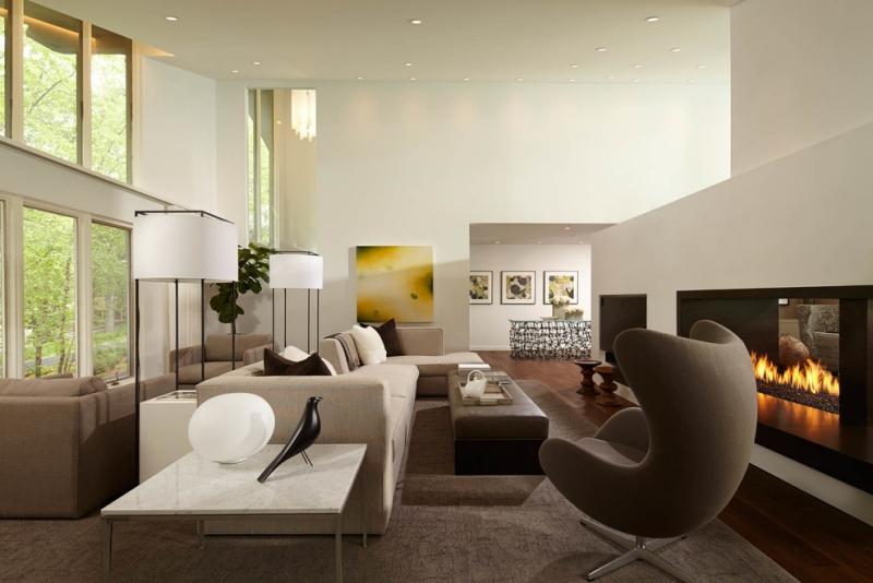 Hermosas salas con chimeneas modernas salas con estilo - Diseno de chimeneas modernas ...