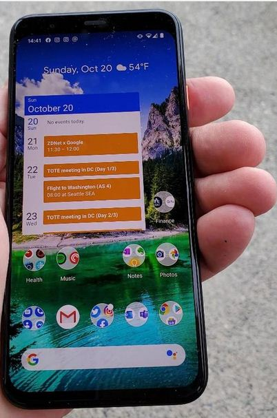 Google Pixel 4 review Display