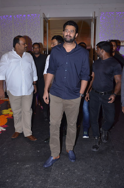 prabhas at shyam prasad daughter wedding