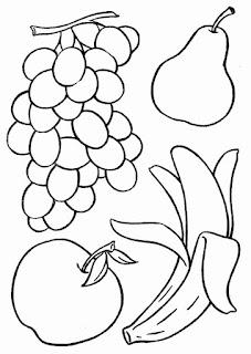 Imagenes de frutas y verduras para colorear