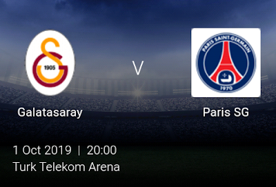 LIVE MATCH: Galatasaray Vs Paris SG UEFA Champions League 01/10/2019
