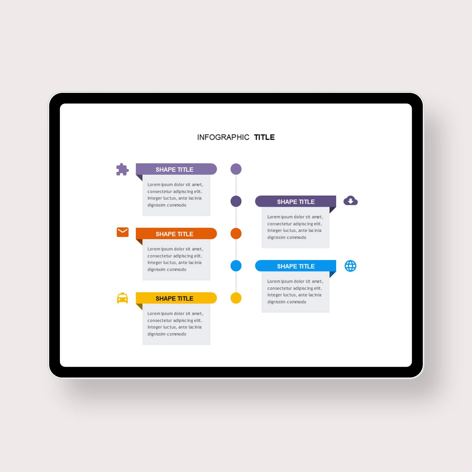 Vertical Timeline Contents Box PowerPoint Templates