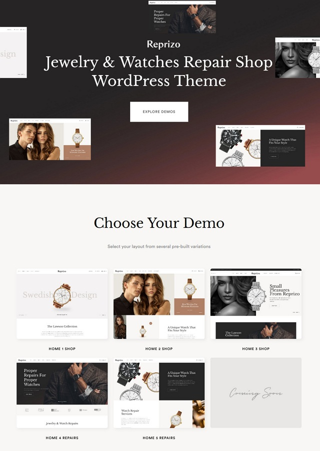 Jewelry & Watch Shop WordPress Theme