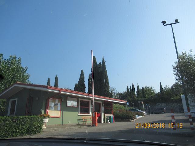 die Rezeption auf dem Campingplatz Continental in Bardolino