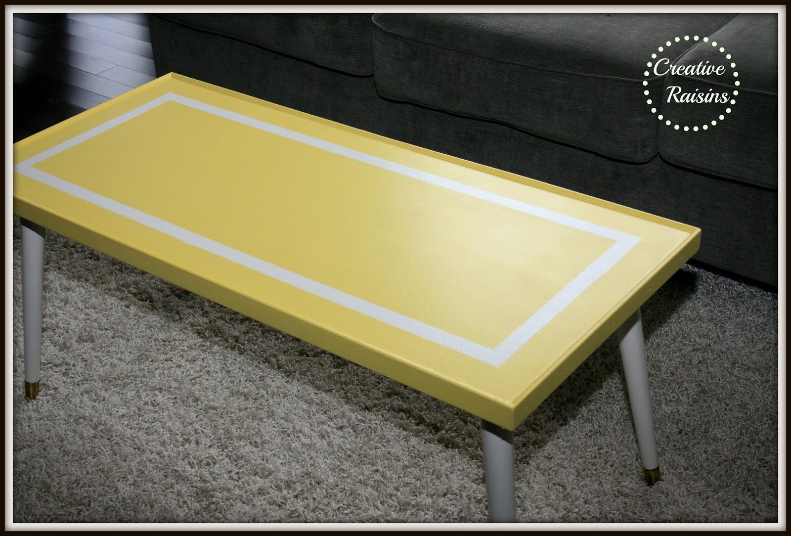 Creative Raisins: Mellow Yellow Coffee Table