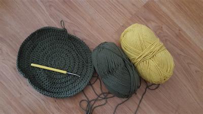 green yellow crochet bag