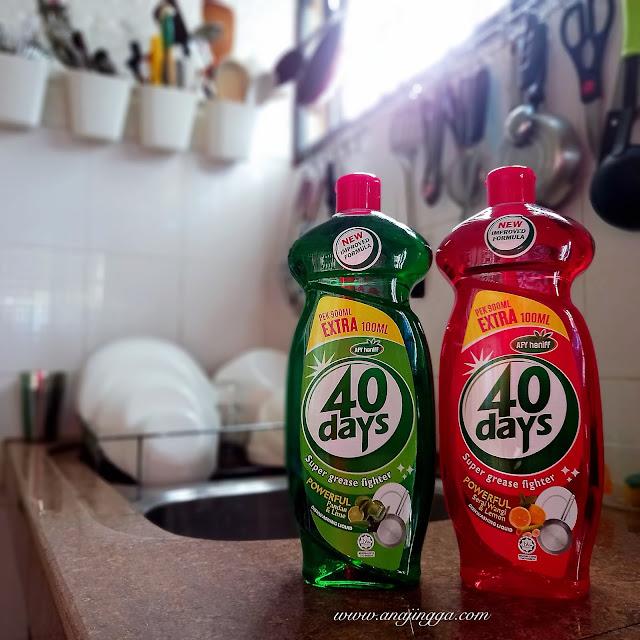 pencuci pinggan mangkuk Afy Haniff 40 days