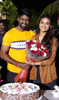 Keerthy Suresh with Cute and Awesome Lovely Smile with Actor Soori