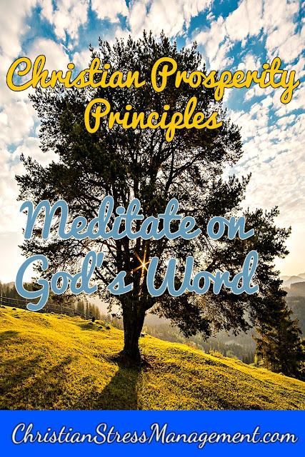 Christian Prosperity Principles: Meditate on God's Word
