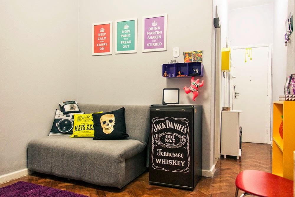 decoracao sala kitnet : decoracao sala kitnet:Decoração: JK / Kitnet – Casa Cafeína