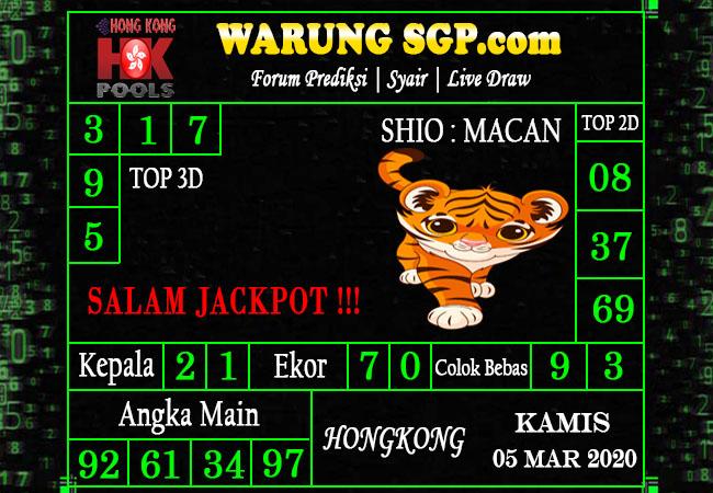 Prediksi Togel JP Hongkong Kamis 05 Maret 2020 - Warung Prediksi Hongkong