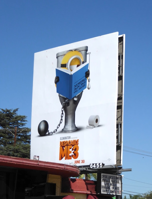 Despicable Me 3 toilet billboard