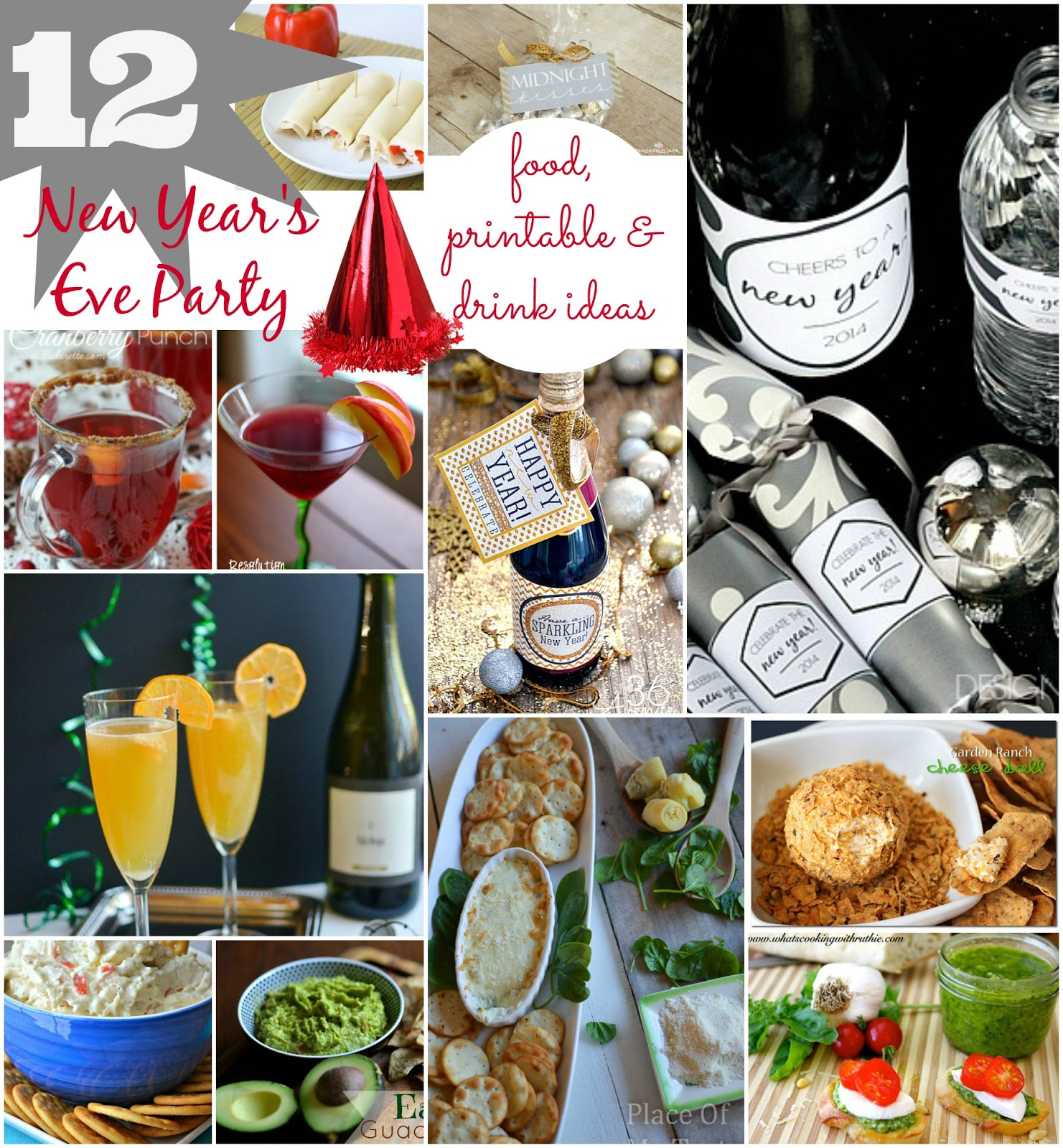 NEW YEAR' S EVE PARTY ideas { food, printable, drink ...