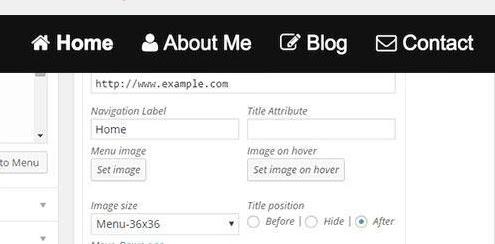 menggunakan ikon font awsome untuk memperindah tampilan menu navigasi blog