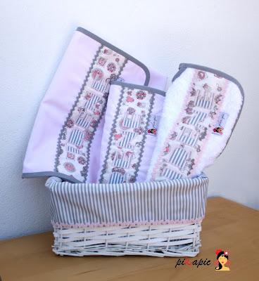 Canastilla para bebé completa Irene. Pikapic
