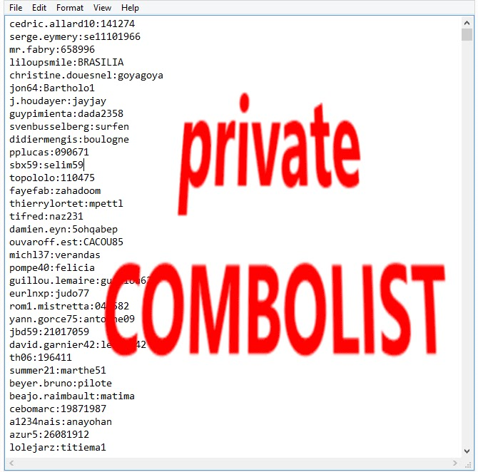 8 MIL HQ COMBO LIST  EMAIL + PASS