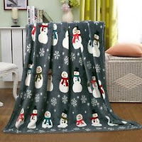 Christmas Santa & Halloween Fleece Throw Blankets - Assorted Styles