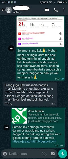 Hasil Turnitin Mahasiswa UIN Wali Songo Semarang