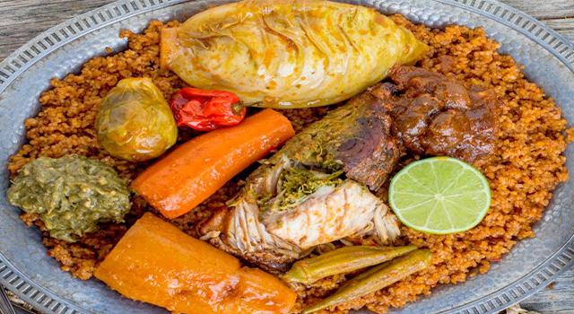 LE PLAT SENEGALAIS THIEBOU DIEUNE:  Cuisine, recette, plat, repas, LEUKSENEGAL, Dakar, Sénégal, Afrique
