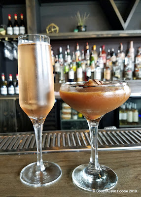 Velouria rose and espresso martini