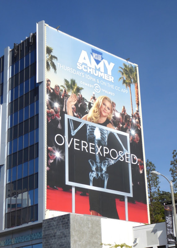 Inside Amy Schumer Overexposed xray billboard