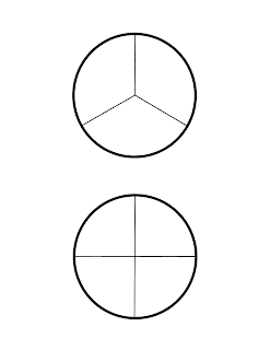 Black and White Montessori Fraction Circles-Part of the Montessori-inspired Intro to Fractions Printable Pack