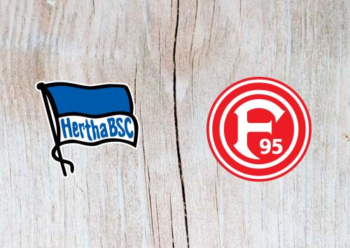 Hertha Berlin vs Fortuna Dusseldorf  - Highlights 6 April 2019