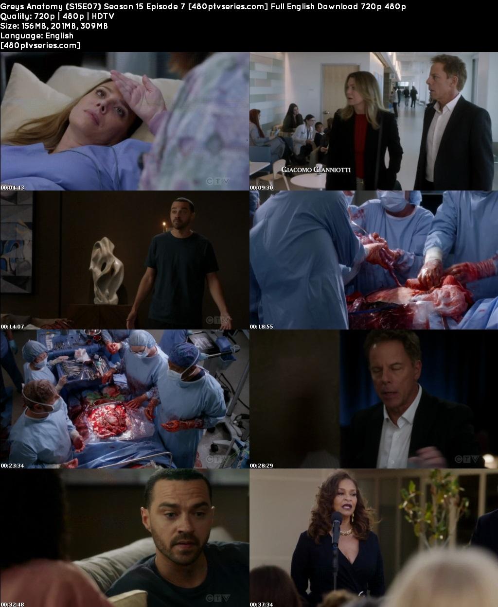 Greys Anatomy (S15E07) Season 15 Episode 7 Full English Download 720p 480p
