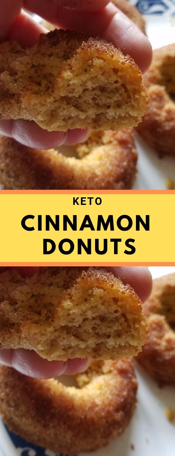 KETO CINNAMON DONUTS #KETO #LOWCARB #DONUTS