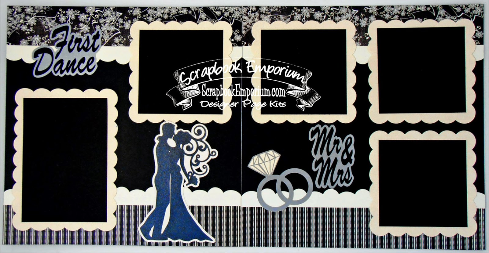 d wedding scrapbook Wedding scrapbook page ideas First Dance Wedding Scrapbook Pages