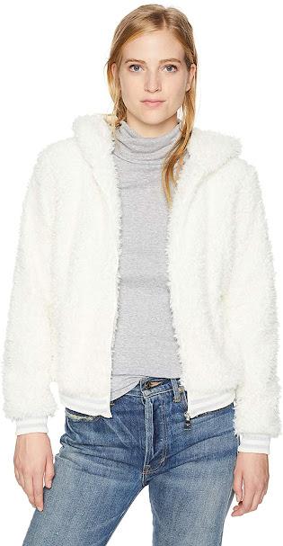 Cream Faux Fur Jackets Coats for Women