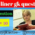 General Knowledge ( one liner gk questions in hindi ) Part = 10