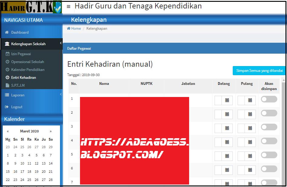 Cara Cepat Cetak SPTJM Daftar Hadir GTK Online