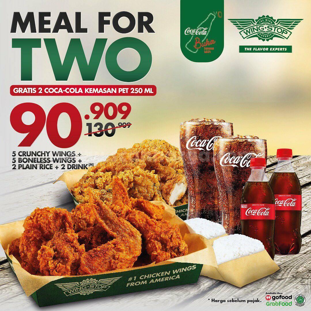 Promo Wingstop Paket Meal for Two + Gratis Coca Cola cuma Rp 90.909,-