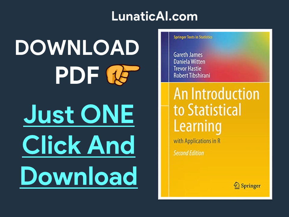 An Introduction to Statistical Learning 2nd Edition PDF