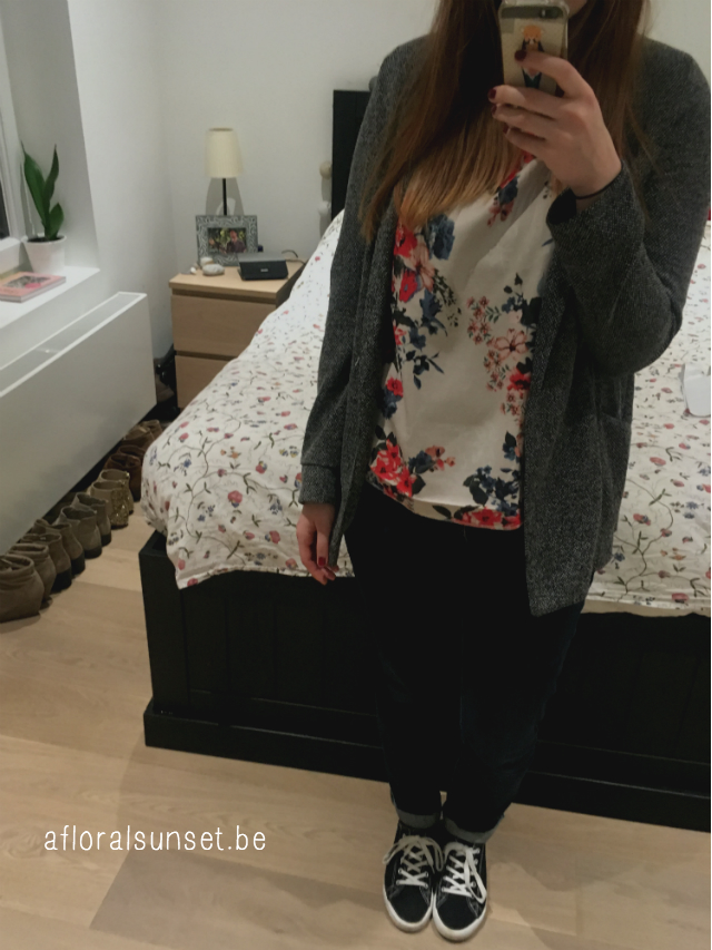 februari outfits - a floral sunset