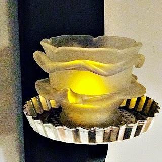 Modern farmhouse styled wall tea light candle.