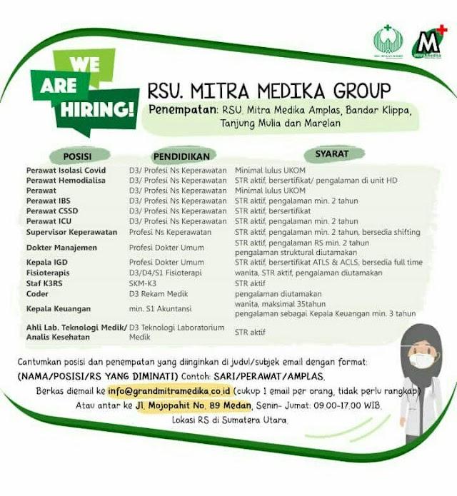 Loker Dokter Umum RSU Mitra Medika Group Sumatera Utara