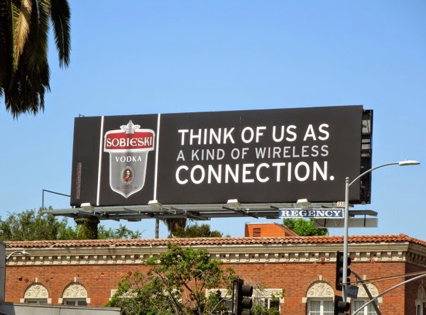 wireless connection Sobieski Vodka billboard